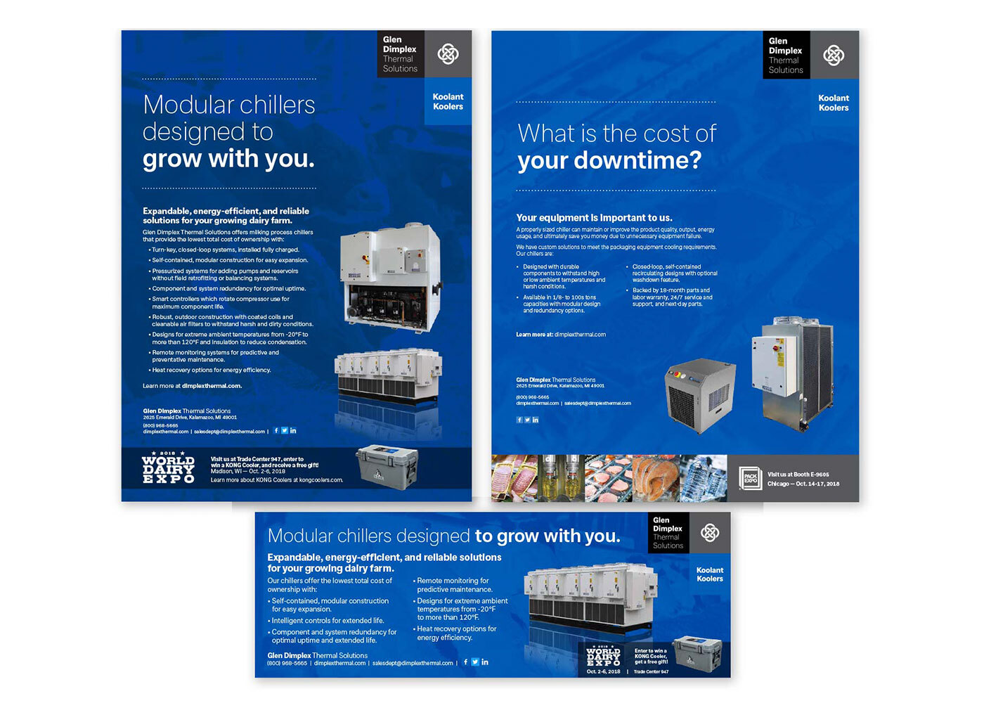 Glen Dimplex Thermal Solutions print ads - Print