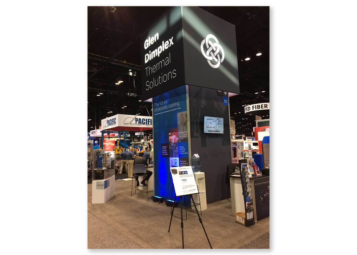 Glen Dimplex Thermal Solutions trade show materials - Experience